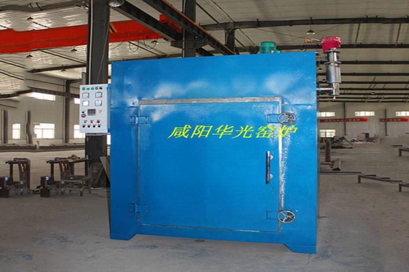 Nitrogen protection hot air circulation glue furnace