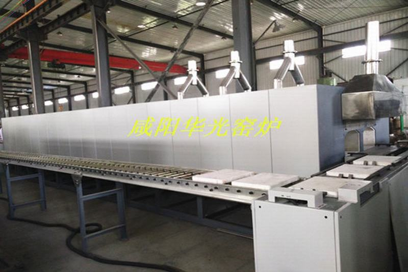Automatic double push plate furnace